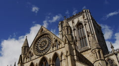 York Minster with cloudy sky Stock Footage