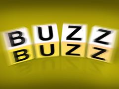 Buzz blocks displays excitement attention and public visibility Stock Illustration