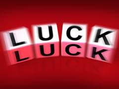 luck blocks displays fortune destiny or luckiness - stock illustration