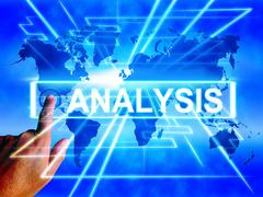 Stock Illustration of analysis map displays internet or worldwide data analyzing