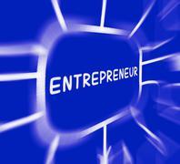 Entrepreneur diagram displays business person and start-up Stock Illustration