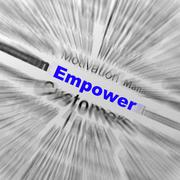 empower sphere definition displays motivation and business encouragement - stock illustration