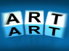 Art blocks displays painting artwork drawing and graphics Piirros