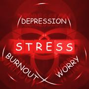 Stress depression worry and anxiety displays burnout Stock Illustration