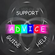 guidance displays advice and to help support and guide - stock illustration