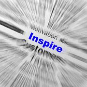 inspire sphere definition displays motivation and positivity - stock illustration