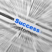 success sphere definition displays determination and leadership - stock illustration