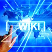 Stock Illustration of wiki map displays internet education and encyclopaedia websites