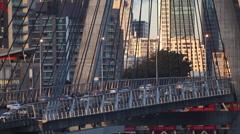 Afternoon traffic leaving Sydney CBD across the Anzac Bridge. Stock Footage