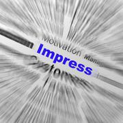 Impress sphere definition displays satisfactory impression or excellence Stock Illustration