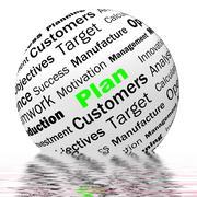 plan sphere definition displays planning or objective managing - stock illustration