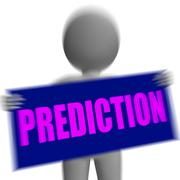 Prediction sign character displays future forecast and destiny Stock Illustration