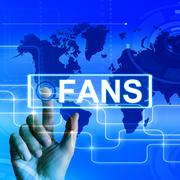 fans map displays worldwide or internet followers or admirers - stock illustration