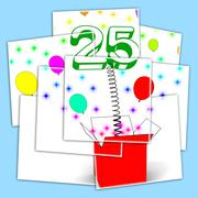 number twenty five surprise box displays beautiful creativity and surprise - stock illustration