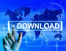Download map displays downloads downloading and internet transfer Stock Illustration