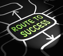 Route to success arrows shows path for achievement Stock Illustration