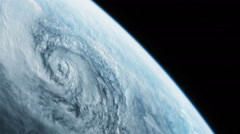 Hurricane viewed from space - stock footage