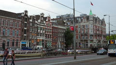 Typical buildings in Amsterdam - stock footage