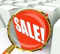 Stock Illustration of sale! packet shows selling retail and buying