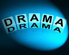 Drama dice indicate dramatic theater or emotional feelings Stock Illustration