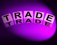 Stock Illustration of trade dice show trading forex commerce and industry