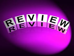 Stock Illustration of review dice mean evaluating assessing and reviewing