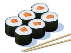 Sushi Stock Illustration
