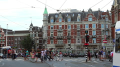 Famous Hotel de L Europe in Amsterdam - stock footage
