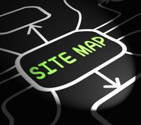 site map arrows means navigating around website - stock illustration