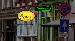 Coffeeshop in Amsterdam - stock footage