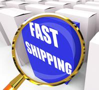 fast shipping packet shows quick deliveries and transportation - stock illustration