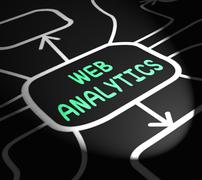 web analytics arrows means collecting and analyzing internet data - stock illustration