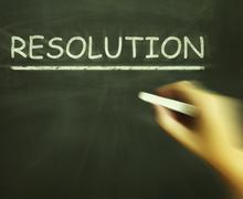 Resolution chalk means solution settlement or outcome Stock Illustration