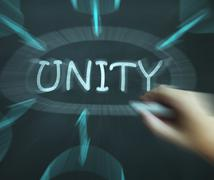 unity diagram means working as team and cooperation - stock illustration