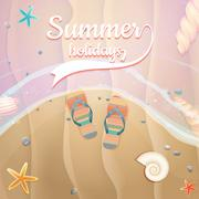 Summer holidays template. plus EPS10 vector file Stock Illustration