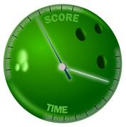 Bowling ball with time and score scales Piirros