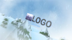 Stock After Effects of Winter Frost Logo