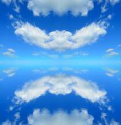 Symmetrical reflection Stock Illustration