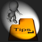 Stock Illustration of tips keyboard means online guidance and suggestions