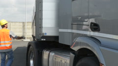 Truck driver; Full HD Photo JPEG - stock footage