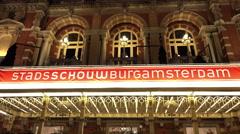 Municipal Theatre called Stadsschouwburg Amsterdam Stock Footage