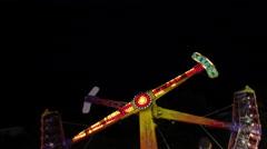 Amusement park in timelapse  4K resolution Stock Footage