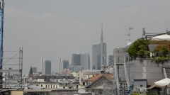 Milan view from the roof of the Duomo Stock Footage