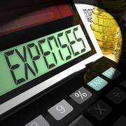 Expenses calculated means company costs and accounting Stock Illustration