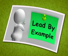 Stock Illustration of lead by example photo means mentor and inspire