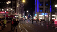 Amsterdam citylights Stock Footage