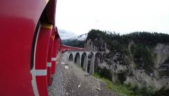 Railway in Swiss Alps - stock footage