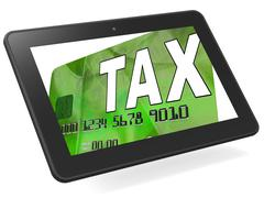 Tax on credit debit card calculated shows taxes return irs Piirros