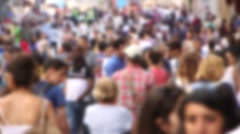 Crowded People in Istiklal Street, Turkey - stock footage