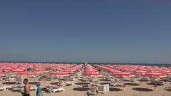 The beach in Albena. Resort Spa in Bulgaria. 4K. Stock Footage